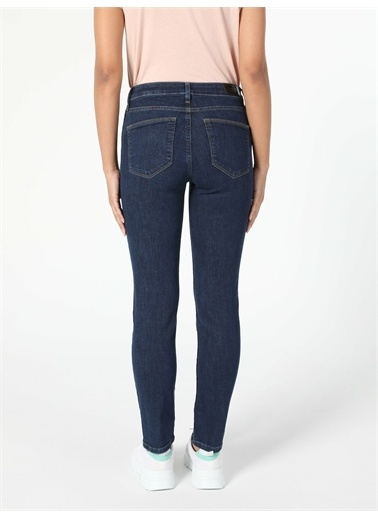 Colin's CL1057141_Q1.V1_DN08085 703 Carla Slim Fit Orta Bel Düz Paça Kadın Jean Pantolon Renkli